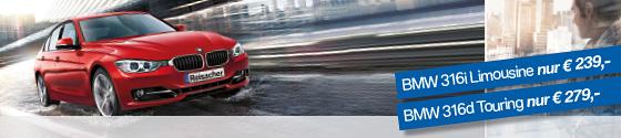 Aktion: BMW 3er Limousiine & BMW 3er Touring