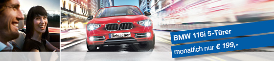 BMW 116 5-Türer. Nur 199,- Euro im Monat.