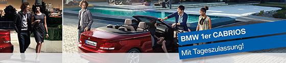 Reisacher. BMW 1er Cabrios mit Tageszulassung zum Aktionspreis.